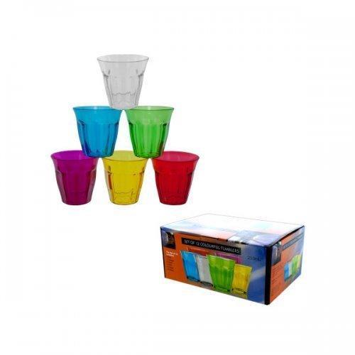 12pk Plastic Tumblers (pack of 1)