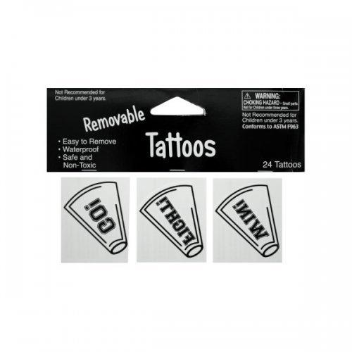 24pk Wht Tattoos 040272 (pack of 24)