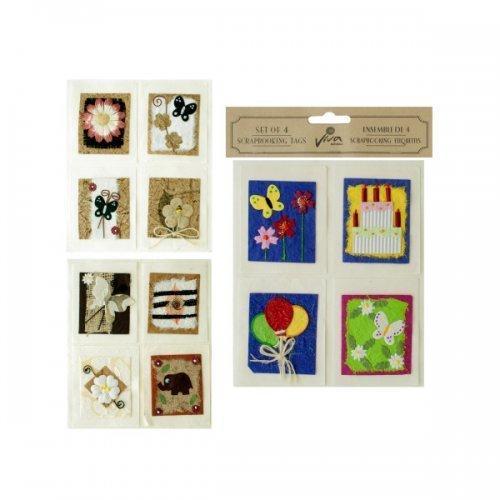 4pk Handmade Scrap Tags (pack of 24)