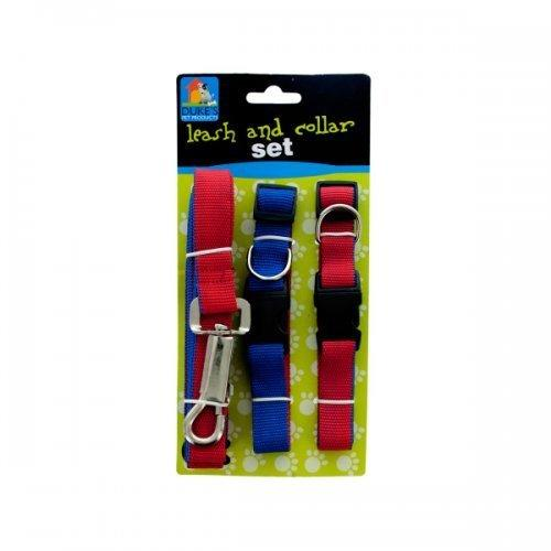 8ft Leash + 2 Collars Set (pack of 8)