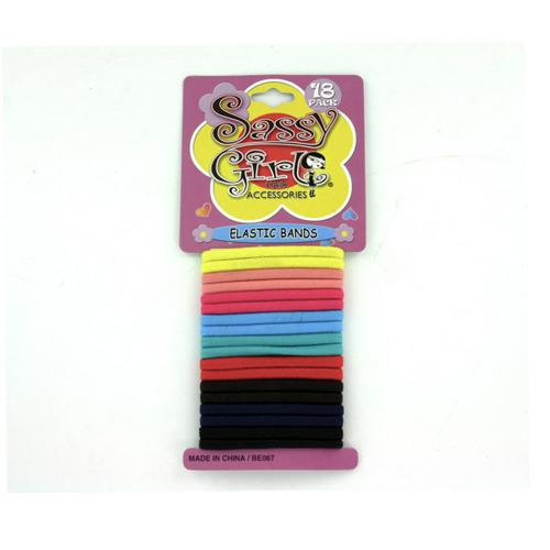 Colored Hair Bands (pack of 12)