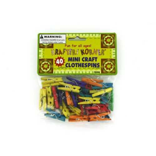 Miniature Craft Clothespins (pack of 24)