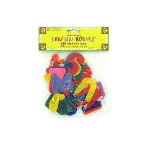 Crafting Felt Letters (pack of 24)