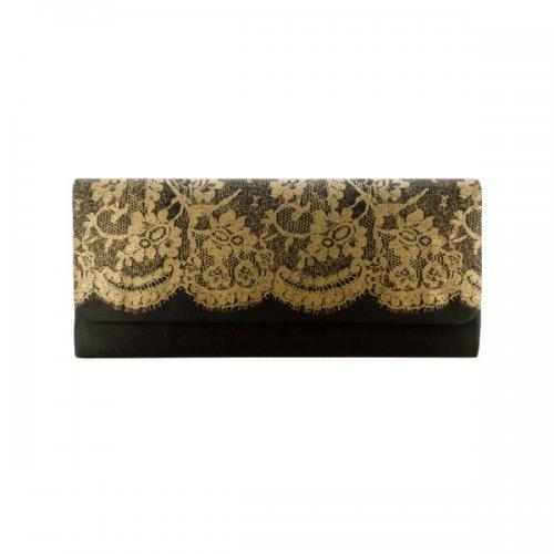 Ladies Clutch Bag With Lace Print (pack of 24)