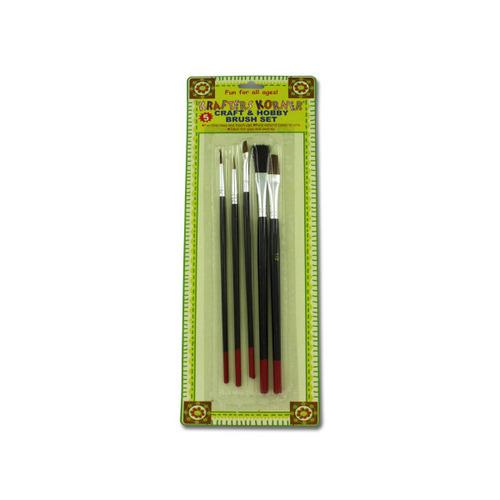 Craft And Hobby Brush Set (set Of 5) (pack of 24)