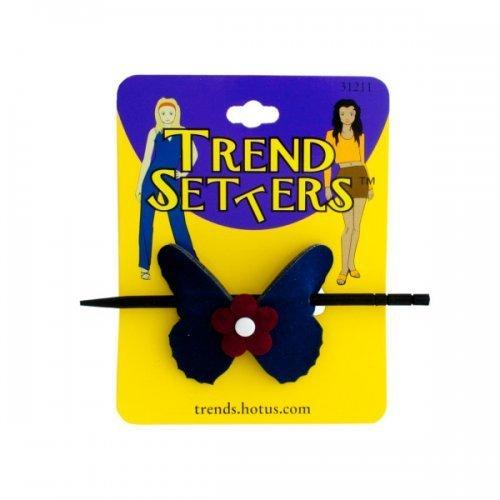 Butterfly Hair Clip With Wooden Stick (pack of 24)