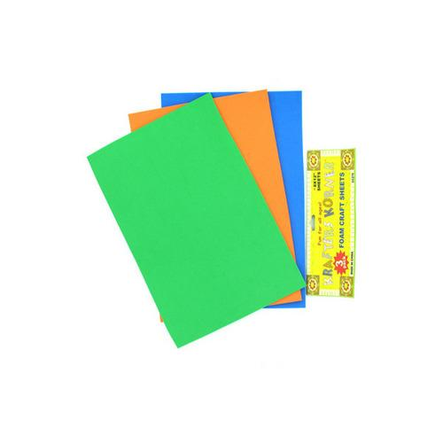 3 Pack Foam Craft Sheets (assorted Colors) (pack of 12)