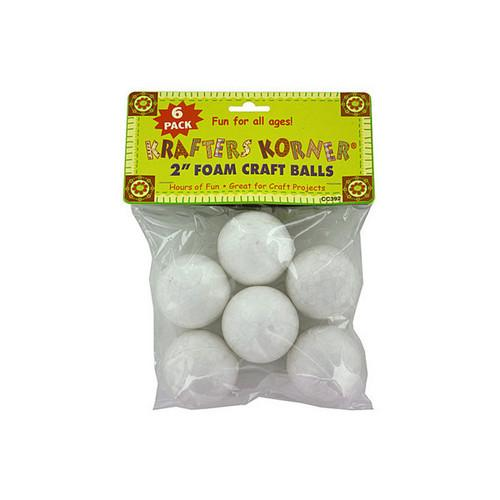 Foam Craft Balls (assorted Sizes) (pack of 12)