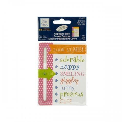 Baby Girl Chipboard Slider With Glitter Accents (pack of 24)