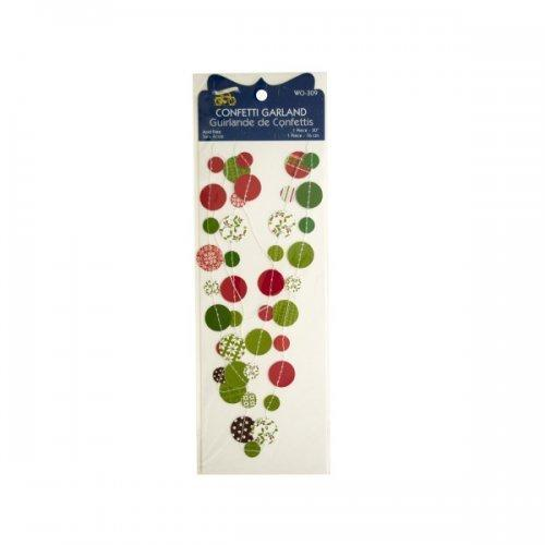 Christmas Confetti Craft Garland (pack of 24)