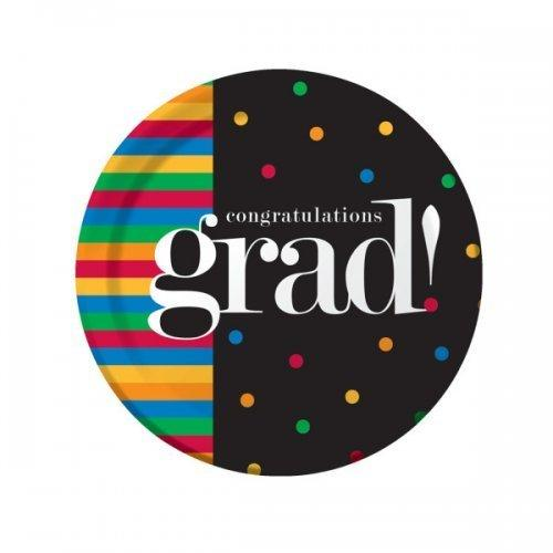 Grad U Made It Round Plates Set (pack of 24)