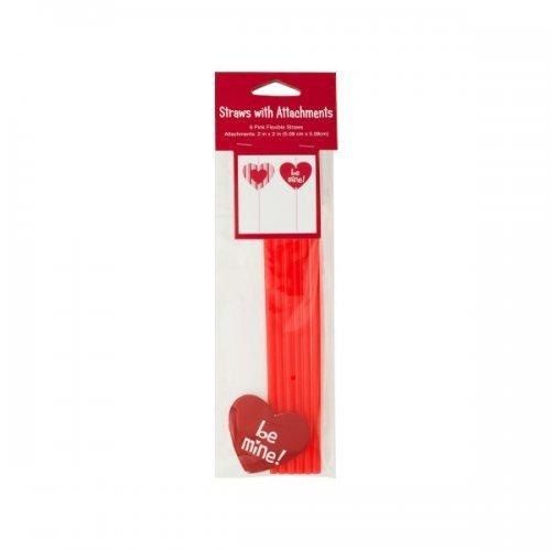 6pk Hearts With Straws (pack of 24)