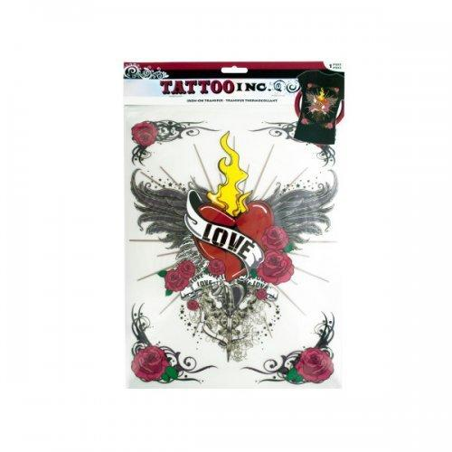 Iron-on Love With Wings Tattoo Transfer (pack of 30)