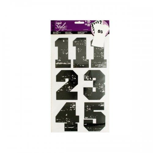 Iron-on Black Numbers (pack of 24)