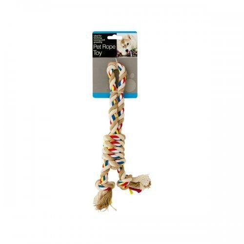 Colorful Knotted Pet Rope Toy With Handle (pack of 12)