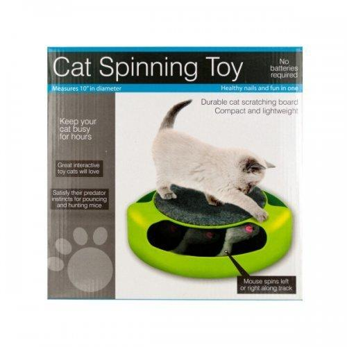 Cat Scratch Pad Spinning Toy With Mouse (pack of 1)