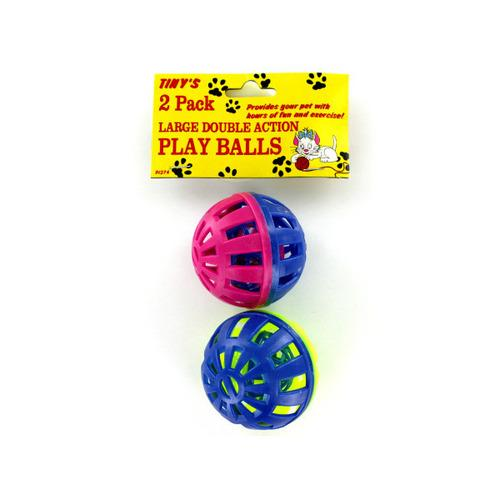 2 Pack Cat Play Balls (pack of 24)