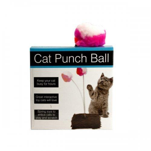 Cat Punch Ball Toy With Furry Base (pack of 5)