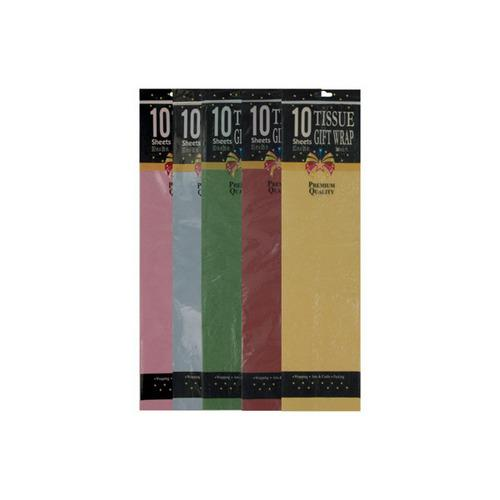 10 Piece Gift Tissue Assorted Colors (pack of 24)
