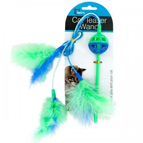 Cat Teaser Wand With Feathers (pack of 24)