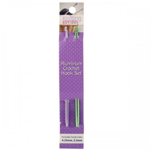 Anodized Aluminum Crochet Hook Set (pack of 24)