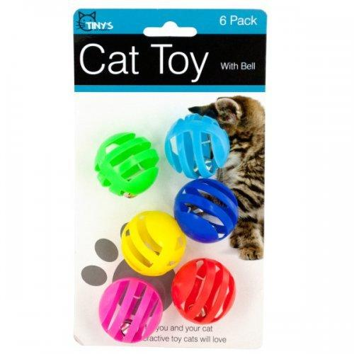 Balls With Bells Cat Toys Set (pack of 12)