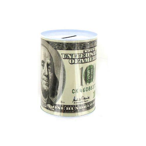 100 Dollar Bill Tin Money Bank (pack of 24)