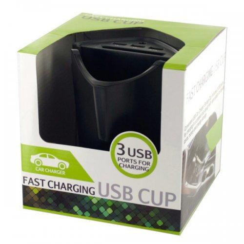 Fast Charging Usb Car Storage Cup (pack of 2)