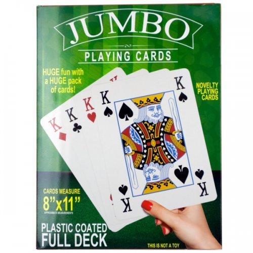 Jumbo Novelty Playing Cards (pack of 4)