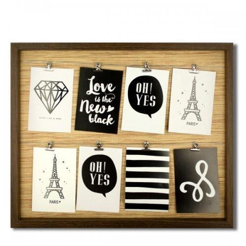 Brown Wire Lines Photo Frame (pack of 2)