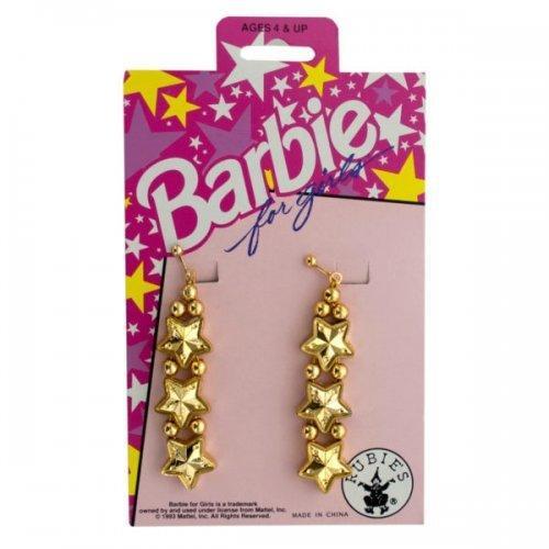Barbie For Girls Gold Star Dangle Earrings (pack of 36)