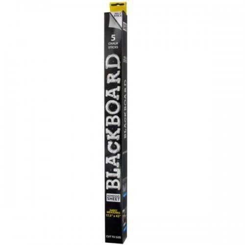 Blackboard Adhesive Sheet & Chalk Set (pack of 8)