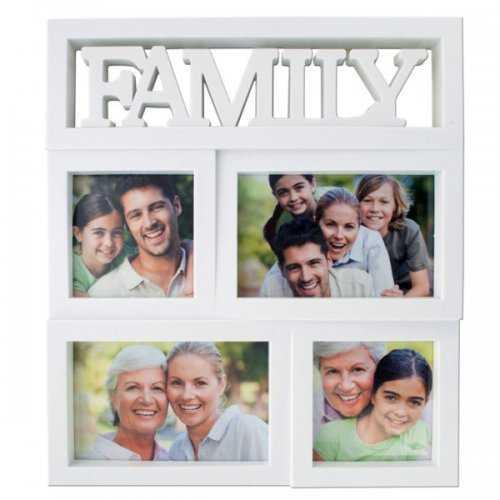 Family Rectangular Photo Collage Frame (pack of 4)