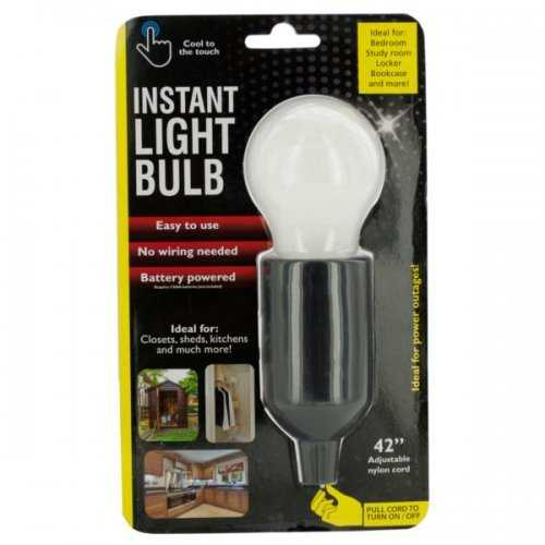 Instant Led Light Bulb With Pull Cord (pack of 6)