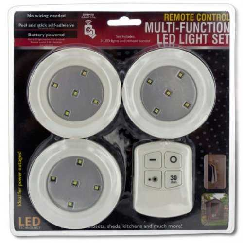 Remote Control Multi-function Led Light Set (pack of 2)