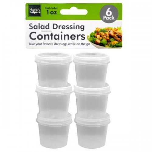1 Oz. Salad Dressing Containers Set (pack of 24)