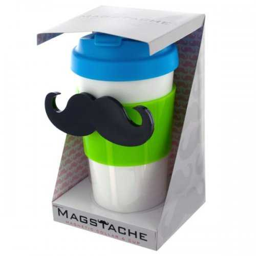 Magstache Lime & Blue Magnetic Travel Mug (pack of 12)