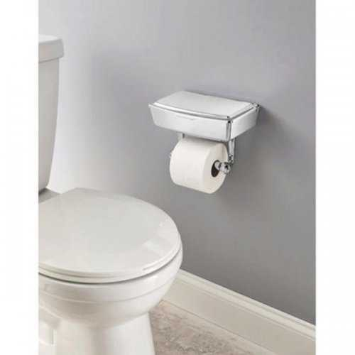 Delta Porter Chrome Toilet Paper Holder With Storage Box (pack of 1)