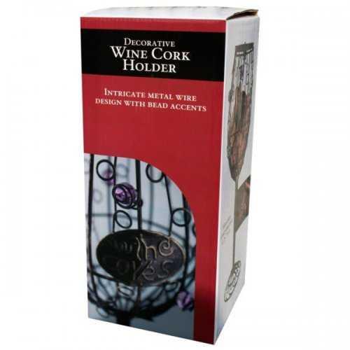 Decorative Glass Shaped Wine Cork Holder (pack of 2)