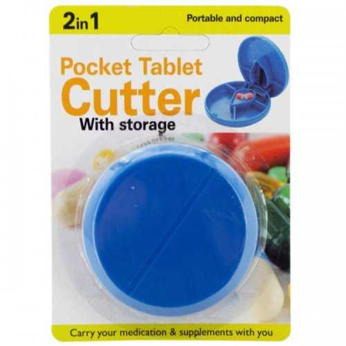 2 In 1 Pocket Tablet Cutter With Storage (pack of 18)