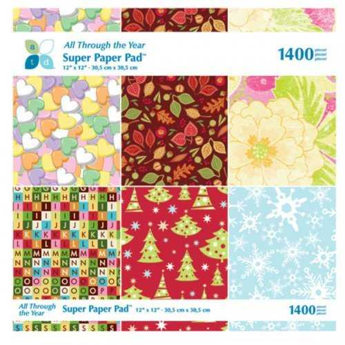 All Through The Year Super Craft Paper Pad (pack of 8)