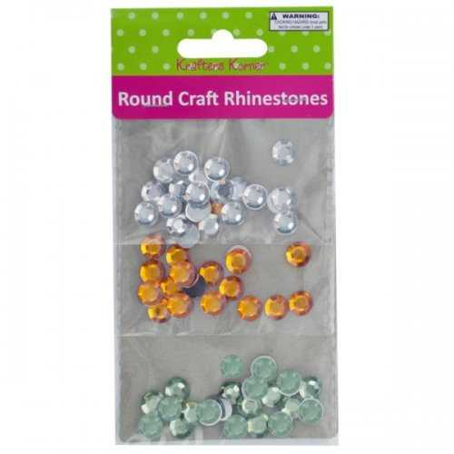 Faceted Round Craft Rhinestones (pack of 20)