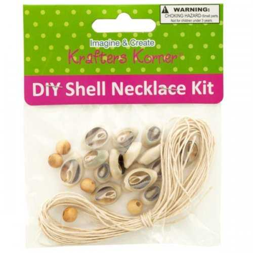 Diy Craft Shell Necklace Kit (pack of 18)