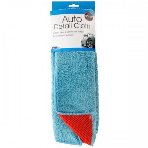 2 In 1 Absorbent Microfiber Auto Detail Cloth (pack of 6)