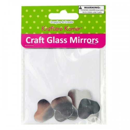 Small Heart Shape Craft Glass Mirrors (pack of 20)