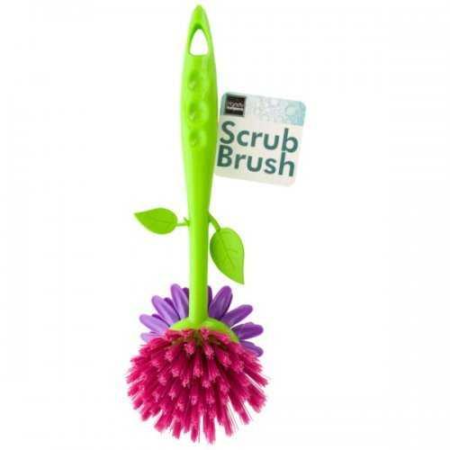 Flower Shape Dish Scrub Brush (pack of 12)