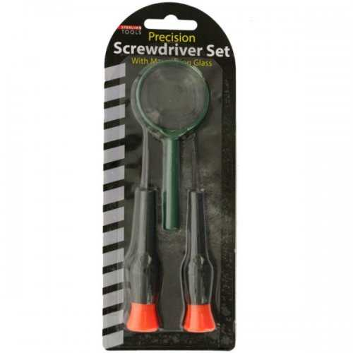 Precision Screwdriver Set With Magnifying Glass (pack of 16)