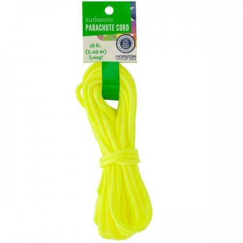 Craft Neon Yellow Authentic Parachute Cord (pack of 24)