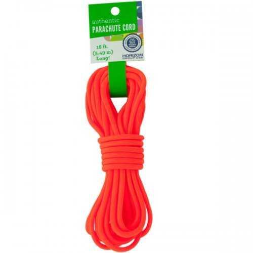 Craft Neon Orange Authentic Parachute Cord (pack of 24)