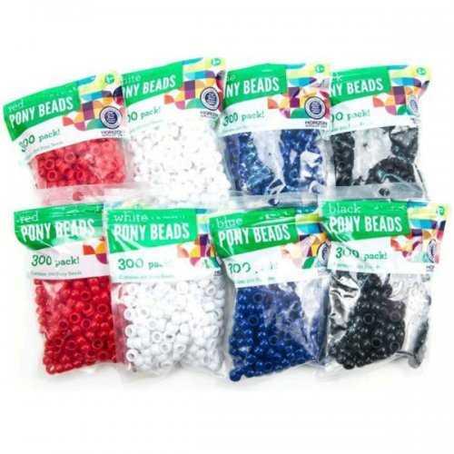 Plastic Pony Beads Assortment (pack of 30)